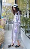 STARMIMI 油彩筆觸渲染印花洋裝的時尚穿搭