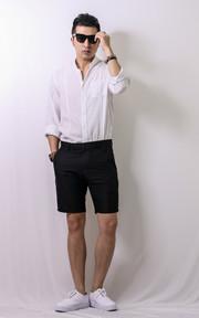 小立領純棉薄襯衫 小立領純棉薄襯衫的穿搭