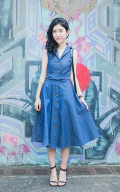 時尚穿搭:丹寧洋裝