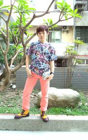 PLAYER 韓版時尚照片印花休閒短T的穿搭