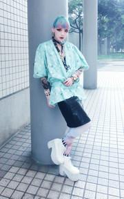 VINTAGE 日本和服罩衫的時尚穿搭