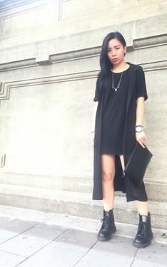 時尚穿搭:一個禮拜前的黑色。