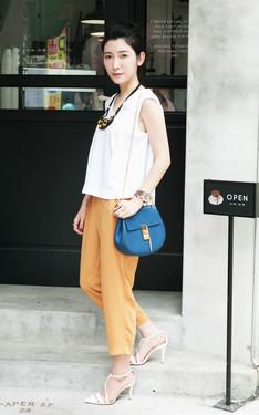時尚穿搭:yellow x blue