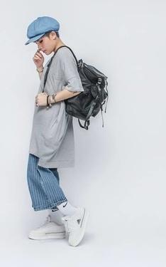 時尚穿搭:休閒街頭韓系穿搭