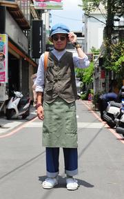 PLAIN-ME 自製商品  磨毛手感打摺寬管褲的穿搭