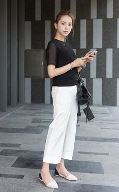 時尚穿搭:黑白OL