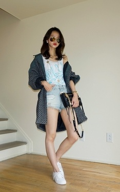 時尚穿搭:Pre-Fall Style: leather X tweed Oversized Jacket