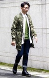 G-STAR RAW JACKET BURMANS LIGHT WEIGHT PARKA WAVE CAMO的時尚穿搭