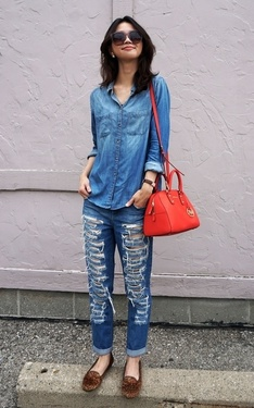 時尚穿搭:Denim with Denim