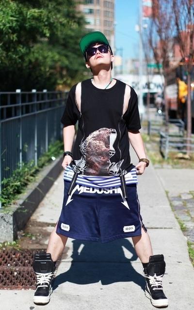 適合街頭、時裝週、日常穿搭、紐約街頭、上衣、球褲、MEDUSHI的穿搭