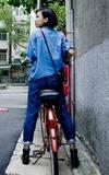 OH SIMPLE 復古風高腰直筒牛仔褲的時尚穿搭