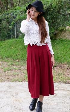 時尚穿搭:秋季酒紅