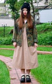 古著 德軍迷彩外套的時尚穿搭