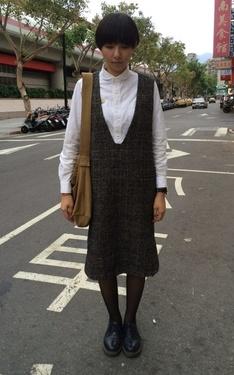 時尚穿搭:秋天散步