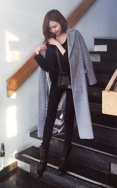 時尚穿搭:winter style withe the oversized coat