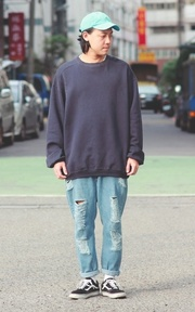 CHAMPION SWEATSHIRT 的穿搭