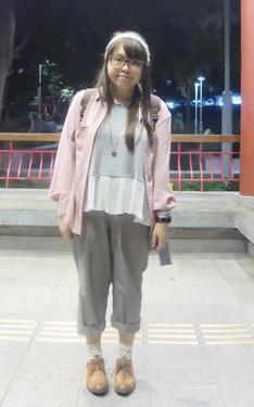 時尚穿搭:難得的粉紅色