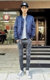 GOLDEN DENIM BIKER JEANS的時尚穿搭