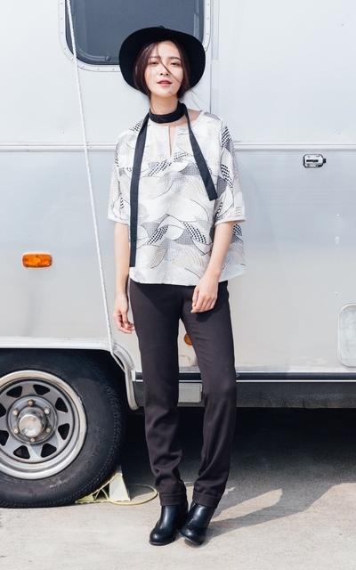適合台南時尚潮流秀、安平休憩碼頭、上衣、褲子、胡雅娟的穿搭