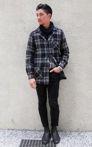 LEVI'S VINTAGE CLOTHING 羊毛格紋外套的穿搭