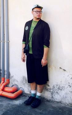 時尚穿搭:翠綠寶貝。
