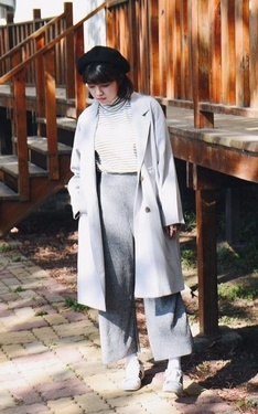 時尚穿搭:冷颼颼灰階