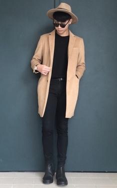 時尚穿搭:駝色x黑色