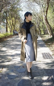 SMARTSNOWSNOW 燈芯絨長板排釦外套的穿搭