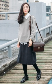 BEARA BEARA LEATHER SATCHEL 的穿搭