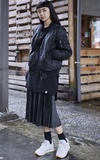 BAO BAO ISSEY MIYAKE 黑色斜掛包的時尚穿搭