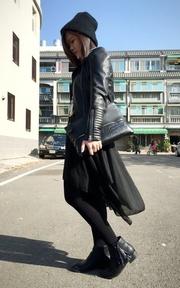 H&M 騎士皮衣的時尚穿搭