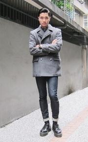 BACKBEAT 雙排釦大衣的穿搭