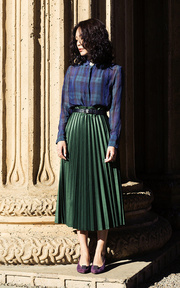 ZARA  PLEATED SKIRT的穿搭