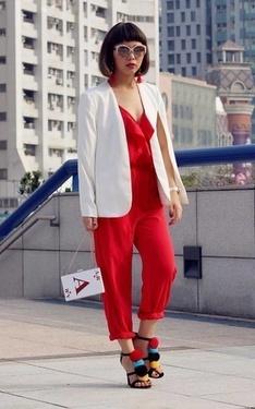 時尚穿搭:red outfit