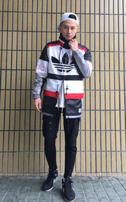 ADDIDAS JAPAN NIGO BLOCKED PARKA JACKET的時尚穿搭