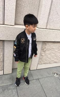 時尚穿搭:跟爸爸一樣的外套