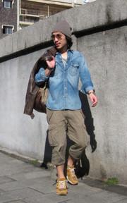 NONNATIVE 牛仔襯衫的時尚穿搭