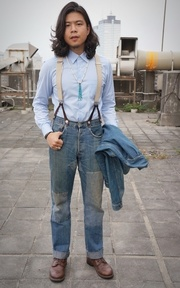 LEVIS VINTAGE CLOTHING GALLUSES的穿搭
