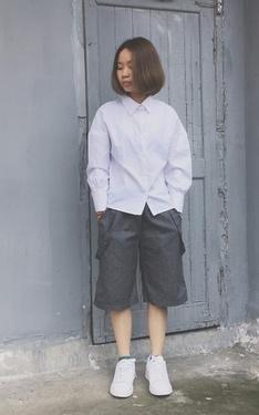 時尚穿搭:灰白