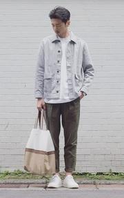 PLAIN-ME 斜紋打摺長褲的時尚穿搭