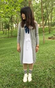 MUJI 無印良品 白色帆布鞋的穿搭
