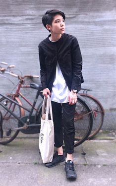 時尚穿搭:▲ #green #uniqlo #lemaire #slow #steady #Korea #komono #nike #black #& #white。▲