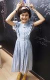HEY!Q 藍色小碎花洋裝的時尚穿搭