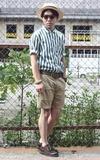 UNIQLO X LEMAIRE 條紋襯衫的時尚穿搭