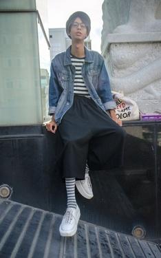 時尚穿搭:應該算日系混搭 吧