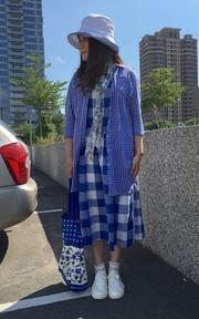 日貨 格子洋裝的時尚穿搭