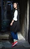 BLACK CHANNEL CLOTHING X CAFE´ 基本寬鬆褲管不收邊單寧褲的時尚穿搭
