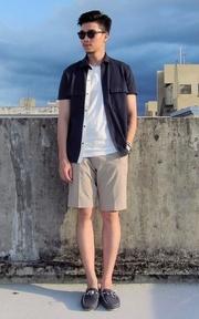 UNIQLO 卡其短褲的時尚穿搭