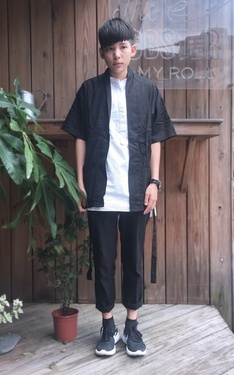 時尚穿搭:▲ #green #kimono #casual #nike #black #and #white #look #vintage。▲