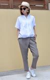 無品牌 不對稱長褲的時尚穿搭
